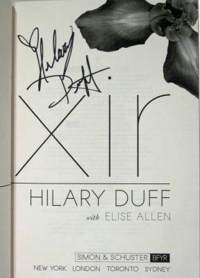 Hilary Duff autographed Elixir hardcover book