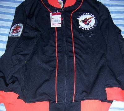 Cal Ripken autographed Baltimore Orioles 1984 batting practice jacket (Mitchell & Ness)