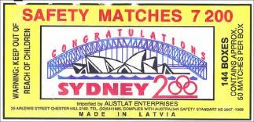 Match Boxes; Sydney Olympic 2000
