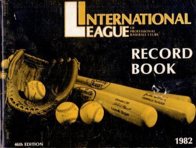 1982 International League Record Book (Wade Boggs Cal Ripken)