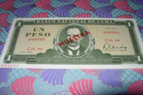 Cuba-1 Pesos-1962 Specimen/muestra-unc