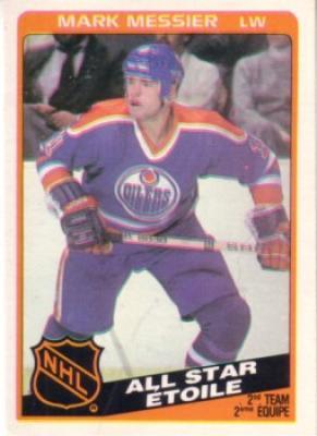 Mark Messier Edmonton Oilers 1984-85 OPC card #213