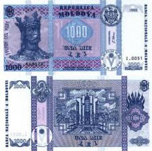 Banknotes: 1000 Lei Banknote Moldova