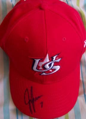Jeff Francoeur autographed USA 2006 World Baseball Classic cap