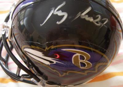 Ray Rice autographed Baltimore Ravens mini helmet