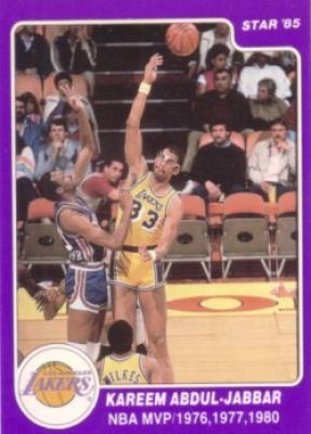 Kareem Abdul-Jabbar Lakers 1985 Star card #8
