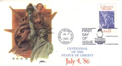 1986 Statue of Liberty Centennial Fleetwood First Day Cover