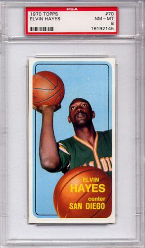1970 Topps Elvin Hayes #70 PSA 8 NM-MT