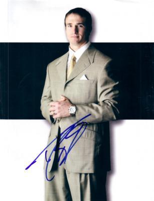 Drew Brees autographed magazine photo