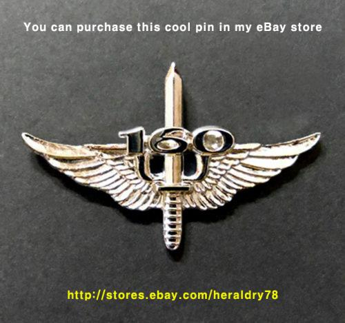 U.S. Army 160th Special Operation Aviation Regiment (SOAR) Night Stalkers Insignia Metal Badge Pin