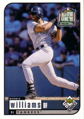 Bernie Williams 1999 Upper Deck All-Star Game jumbo card