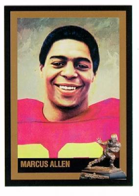 Marcus Allen USC Heisman Trophy winner card