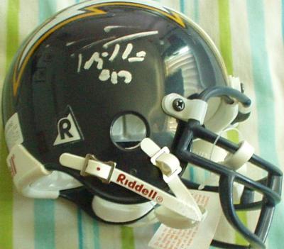 Philip Rivers autographed San Diego Chargers rookie mini helmet