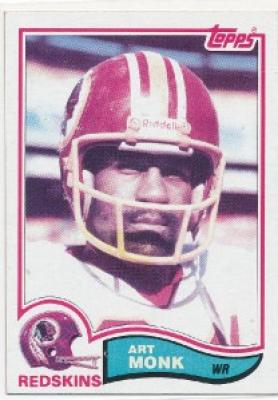 Art Monk Washington Redskins 1982 Topps card #515 NrMt-Mt