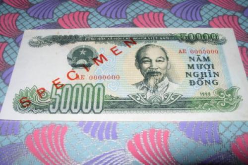 Vietnam 50000 dong-1990 SPECIMEN