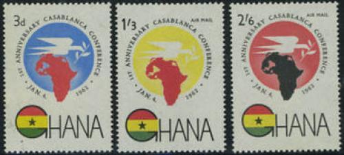 Casablanca conference 3v; Year: 1962