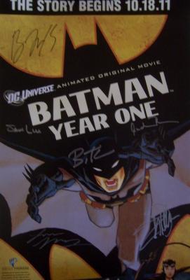 Eliza Dushku autographed Batman Year One 2011 Comic-Con movie poster