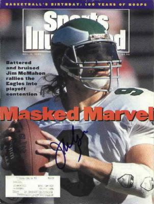 Jim McMahon autographed Philadelphia Eagles Sports Illustrated