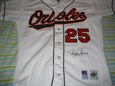 Rafael Palmeiro autographed Baltmore Orioles authentic game jersey