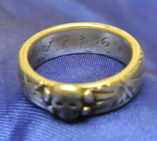 "Original Himmler Honour ""Totenkopf"" Ring"
