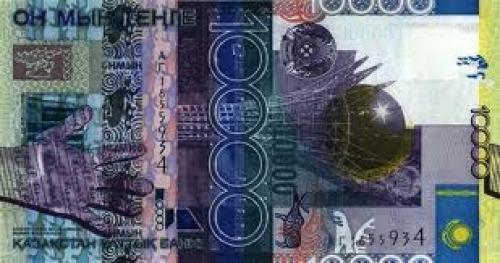 Banknotes;  Kazakhstan 10000 Tenge banknote back view