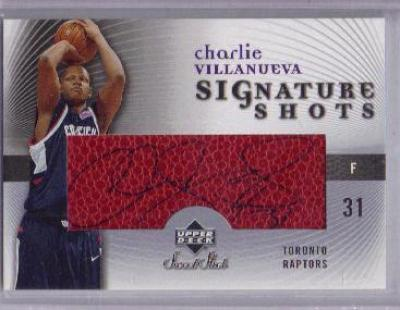 Charlie Villanueva certified autograph 2005-06 Upper Deck Sweet Shot card