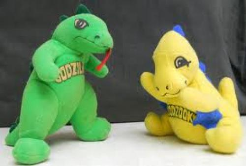 Toys; Godzilla & Godzooky Plush Toys. Based on the American cartoon series