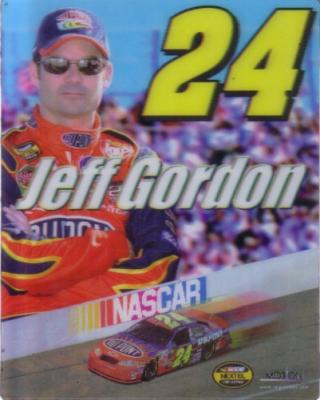 Jeff Gordon (NASCAR) 2004 3D motion 4x5 inch lenticular fridge magnet