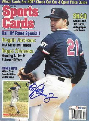 Roger Clemens autographed Boston Red Sox 1993 magazine cover