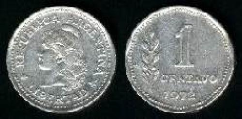 1 Centavo 1970-1975 (km 64); LIBERTAD LAUREL