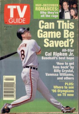 Cal Ripken Baltimore Orioles 1995 TV Guide magazine