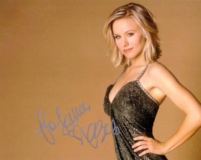 Kristen Bell autographed 8x10 photo (for Jessica)