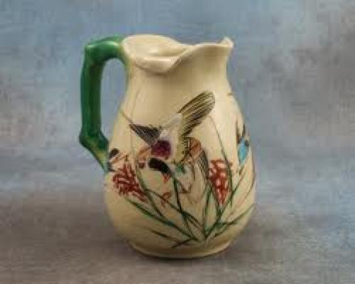 Antique Porcelain Pastel Pitcher