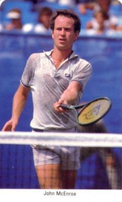 John McEnroe 1987 Fax-Pax Rookie Card