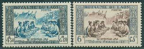 Definitives, folklore 2v; Year: 1953