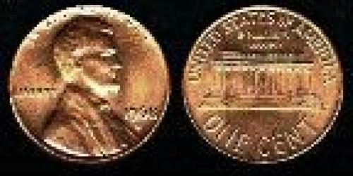 1 cen; Year: 1959; Small Cent. Lincoln Memorial