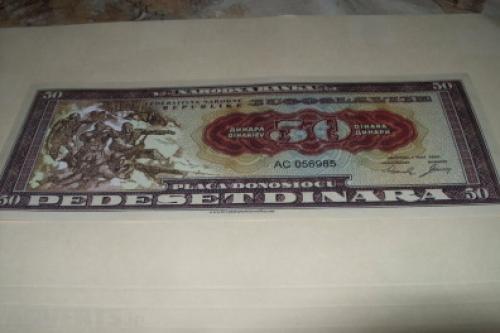 Yugoslavia 50 Dinara-1950-unc