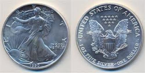 Coins; 1 dollar; Year: 1990 ;usa silver‑eagle