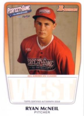 Ryan McNeil 2011 Perfect Game Topps Bowman Rookie Card (AFLAC)
