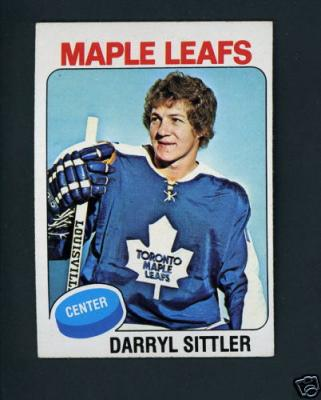 Darryl Sittler Maple Leafs 1975-76 Topps card #150 VgEx