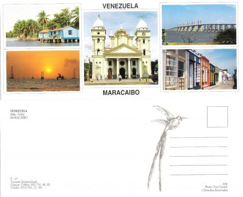 PANORAMIC POSTCARD  MIXED MARACAIBO VENEZUELA