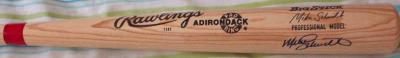 Mike Schmidt autographed Rawlings Adirondack game model bat