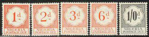 Postage due 5v; Year: 1959