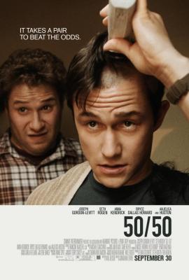 50/50 mini movie poster (Joseph Gordon-Levitt & Seth Rogen)