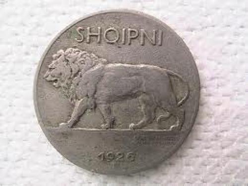 Coins; Albania coin quarter lek lion 1926
