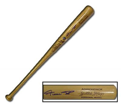 Willie Mays autographed Adirondack authentic game model bat