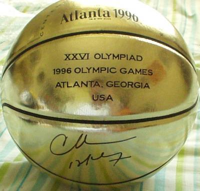 Charles Barkley autographed 1996 Olympics gold basketball
