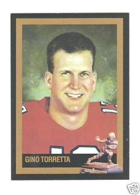 Gino Torretta Miami 1992 Heisman Trophy winner card