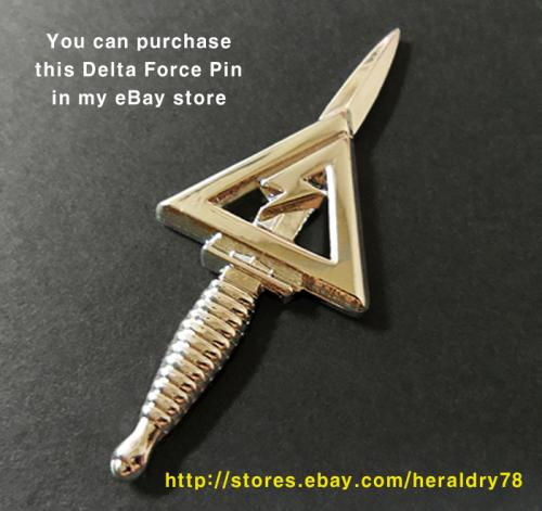 U.S. Army 1st SFOD-D ( DELTA FORCE ) Insignia Metal Badge Pin