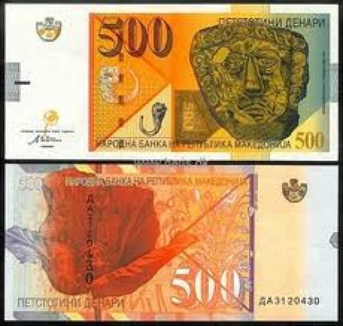 Banknotes; MACEDONIA 500 Denari; Year: 2003